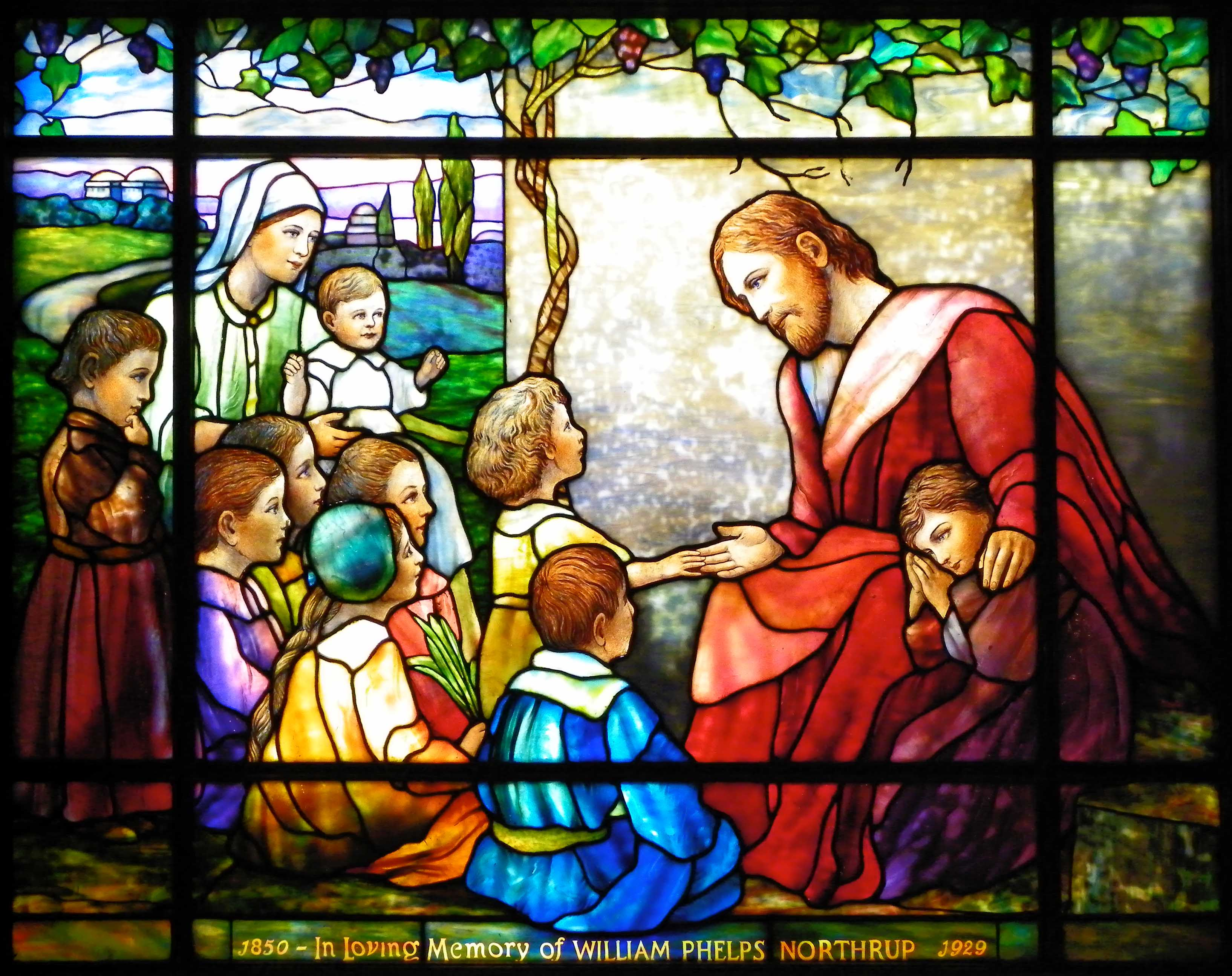 Jesus and the Children from the Children's Chapel   The Episcopal Church of  the Good Shepherd